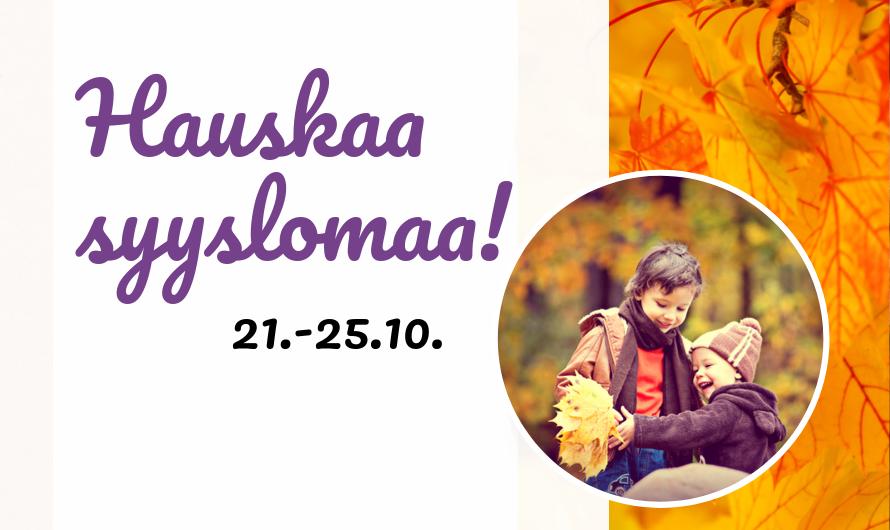 Syysloma 21.-25.10.