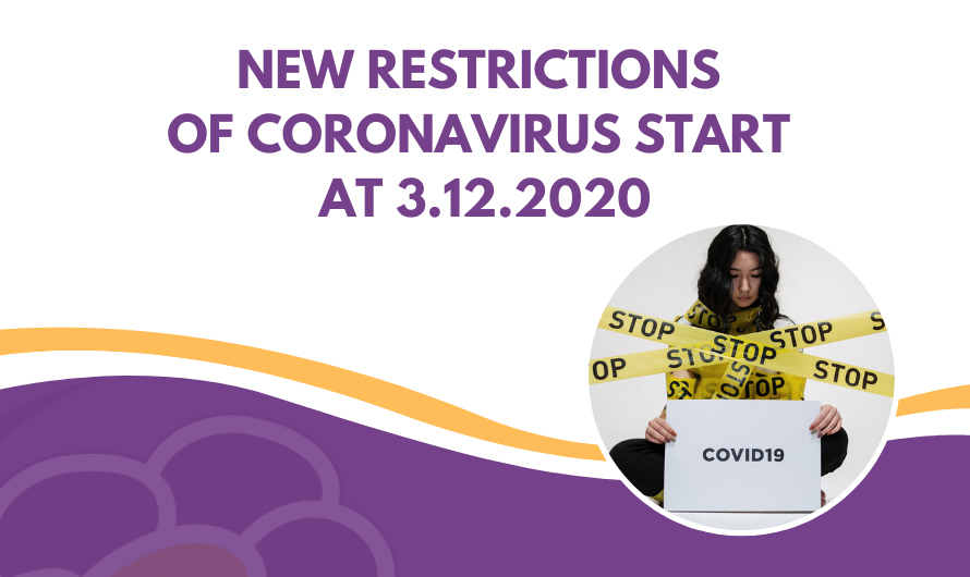 New restrictions of Coronavirus